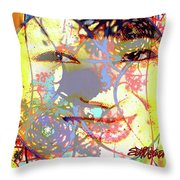 Oriental Garden Moon Throw Pillow