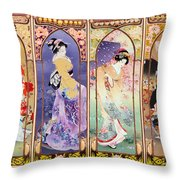 Oriental Gate Multi-pic Throw Pillow