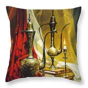 Oriental Jugs Throw Pillow