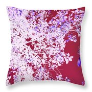 Oriental Leaves Throw Pillow