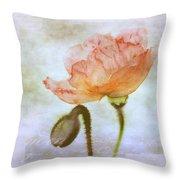 Oriental Poppy And Bud Throw Pillow
