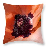 Oriental Poppy - Duvet Covers Throw Pillow