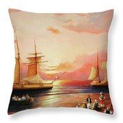 Oriental Sailor Chiefs Gathered For A Meeting On The Shores Of The Black Sea Throw Pillow