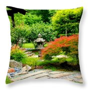 Oriental Scenic Throw Pillow