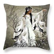 Oriental Sprinkle Throw Pillow