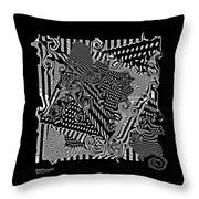 Origami Abstraction Throw Pillow