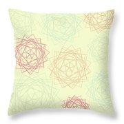 Origami Blooms Throw Pillow
