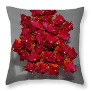 Origami Flowers Throw Pillow