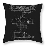 Original 1906 Wright Brothers Full Patent Throw Pillow