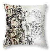 Original Chinese Nature Scene Throw Pillow