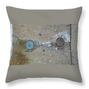 Original Damaged Pipes Throw Pillow