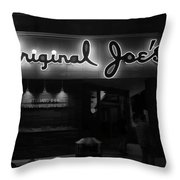 Original Joe's  San Jose Bw Throw Pillow