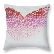 Original Oil Painting Heart, Painting Butterflies, Valentines Day Art, Wall Art Love Throw Pillow