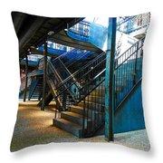 Original Old Stairs Throw Pillow