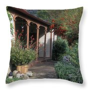 Original Ortega Adobe, Built In 1842 Throw Pillow