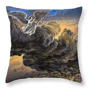 Fifth Trumpet Angel Throw Pillow
