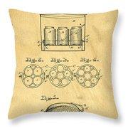 Original Patent For Canning Jars Throw Pillow