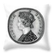 Original Silver Victoria Empress Throw Pillow
