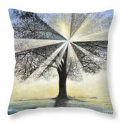 original Tree Light Throw Pillow
