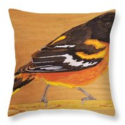 Oriole 3 Throw Pillow