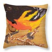 Oriole 4 Throw Pillow