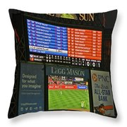 Orioles Game At Camden Yards Throw Pillow