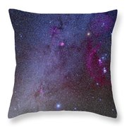 Orion And Canis Major Showing Dog Stars Throw Pillow