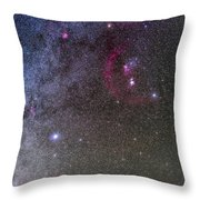 Orion And Canis Major With The Dog Star Throw Pillow