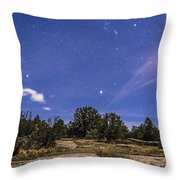 Orion And Sirius Rising Throw Pillow