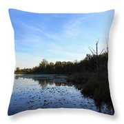 Orion's Lake At Sunset Throw Pillow