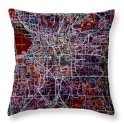 Orlando 1955 Vintage Map Colorful Throw Pillow