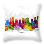 Orlando Florida Cityscape 13 Throw Pillow
