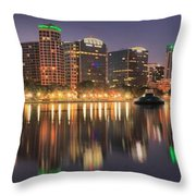 Orlando Sunrise Panorama Throw Pillow