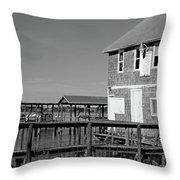 Ormond Yacht Club Black And White Throw Pillow