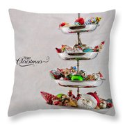 Ornament Compote Throw Pillow