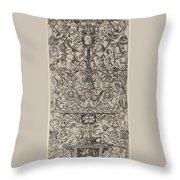 Ornament Panel: Mars, God Of Battles Throw Pillow