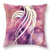 Ornamental Abstract Bird Minimalism Throw Pillow