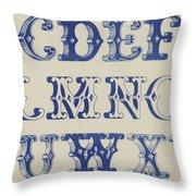 Ornamental Font Throw Pillow