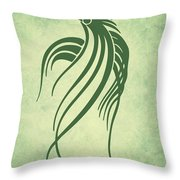 Ornamental Parrot Minimalism Throw Pillow