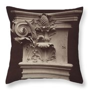 Ornamental Sculpture From The Paris Opera House (column Detail) Throw Pillow
