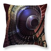 Ornamented Metal Spiral Staircase Throw Pillow