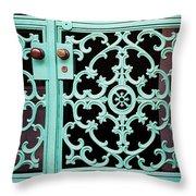 Ornate Doors Throw Pillow