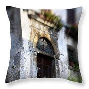 Ornate Italian Doorway Throw Pillow
