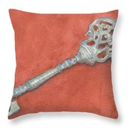 Ornate Mansion Key Throw Pillow
