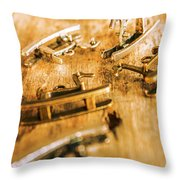 Ornate Rocking Horse Memoirs  Throw Pillow