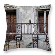 Ornate Weathered Artistic Architecture Throw Pillow