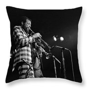 Ornette Coleman On Trumpet Throw Pillow