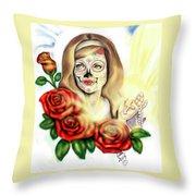 Oro Muerto Throw Pillow
