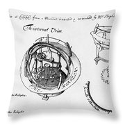 Orrery By Stephen Hales, 1705 Throw Pillow