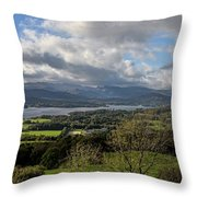 Orrest Head And Windermere Throw Pillow